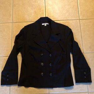 CAbi Cropped Black Jacket